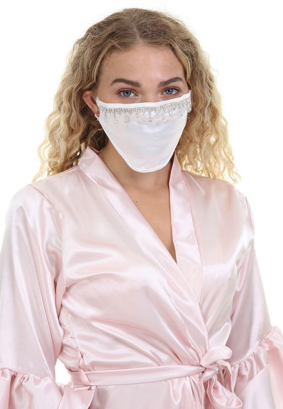 Asimod Kadın Bride Taş Detaylı  Parti Maskesi