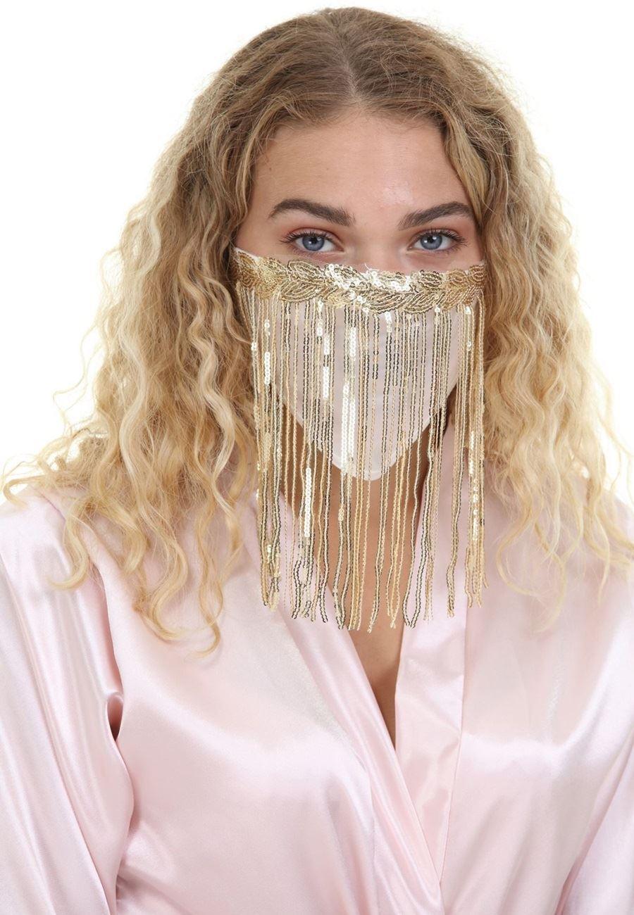 Asimod Bride Payet Sallantılı Parti Maskesi