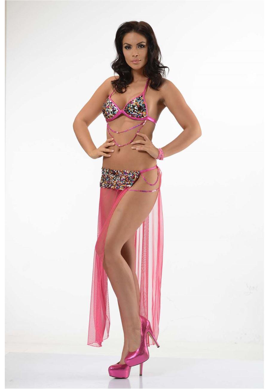 Vip Madame Kadın Pullu Oryantal Fantazi Dansöz Kostüm