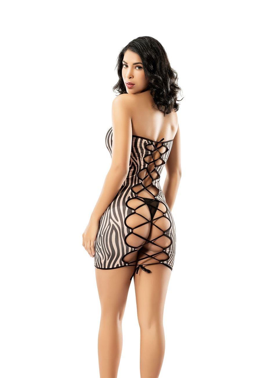 Vip Madame Kadın Fantezi Zebra Gecelik