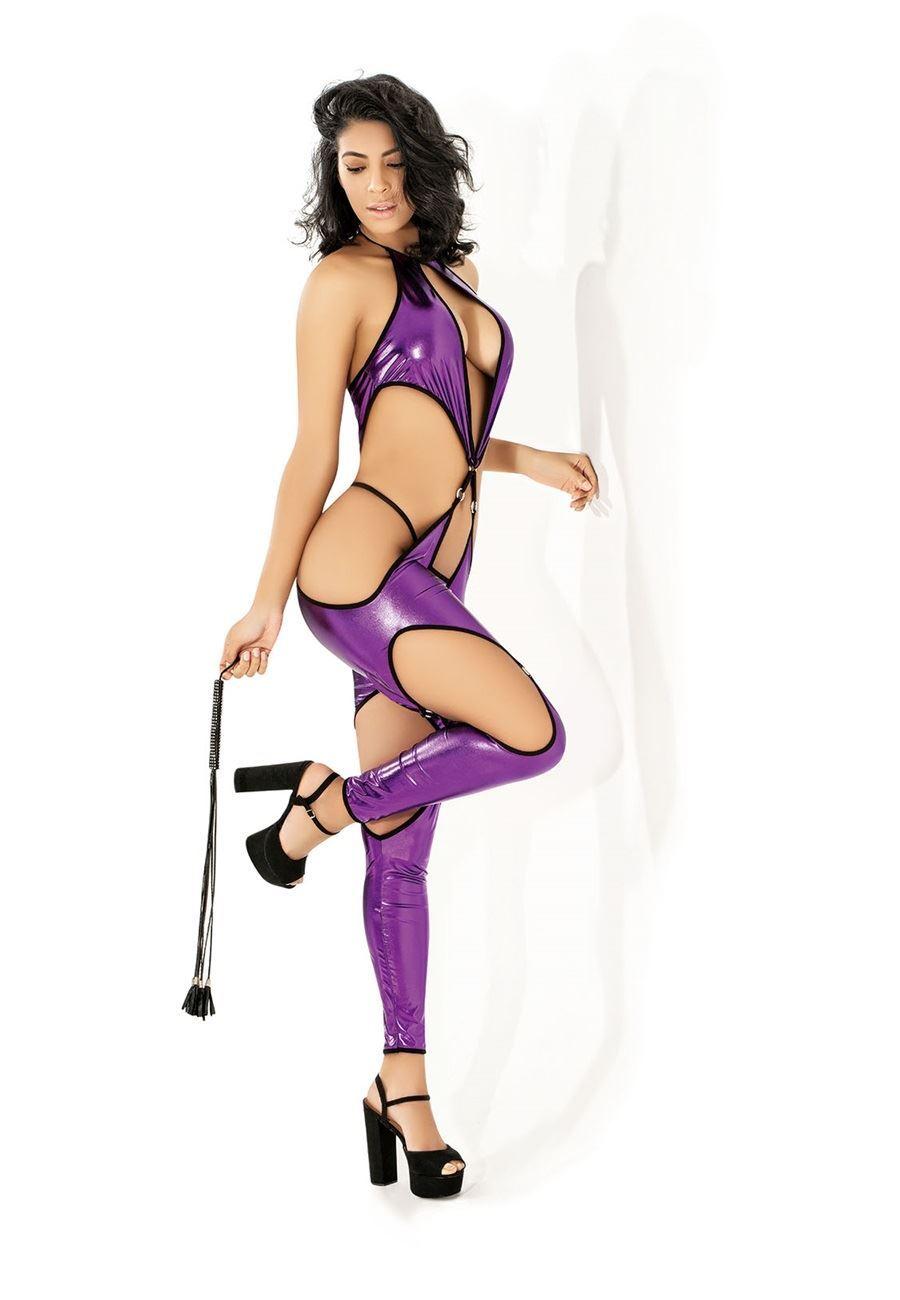 Vip Madame Lame Deri Body Suit
