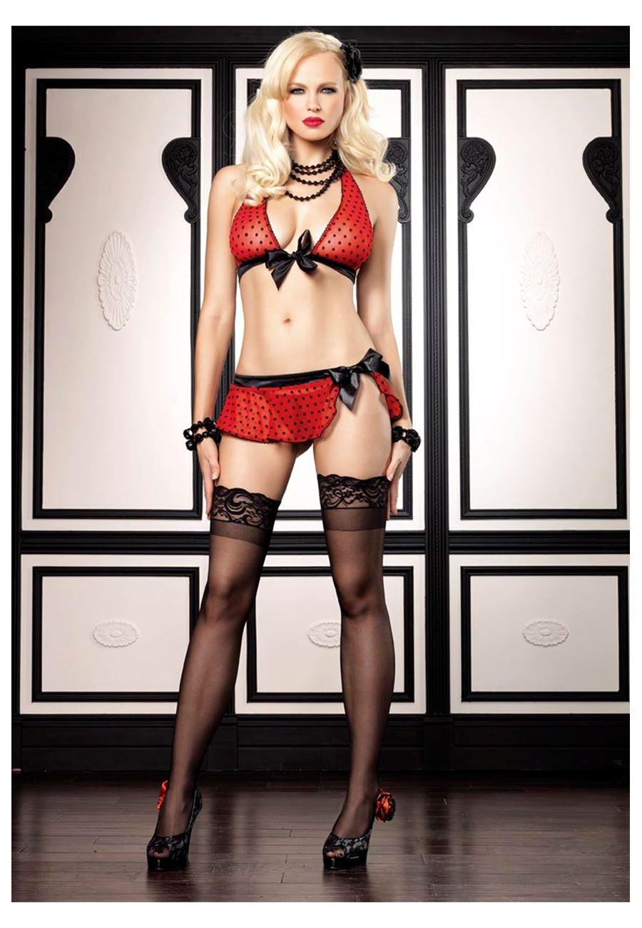 Vip Madame Kadın Fantezi Puantiyeli Sütyen Takım