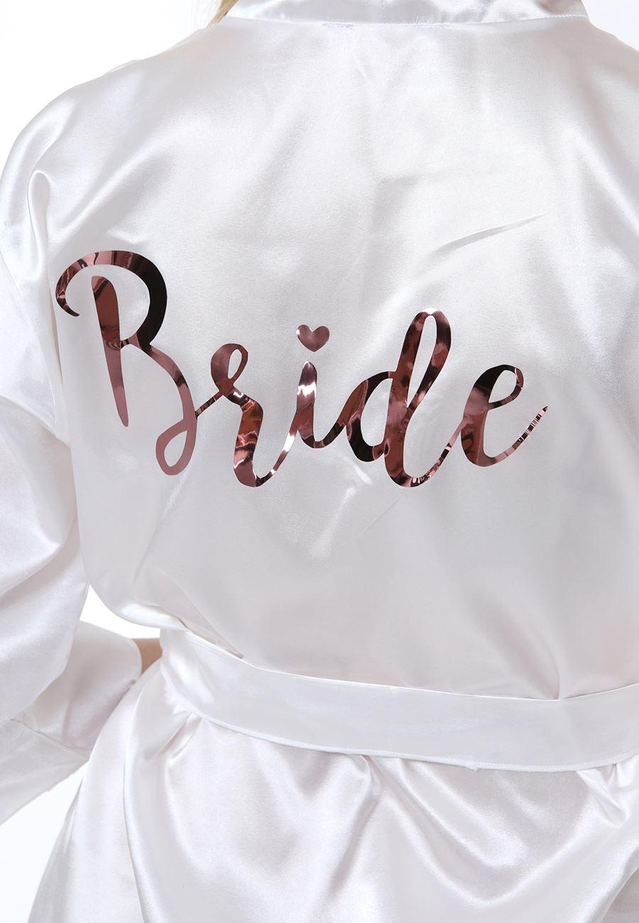 Asimod Kadın Dantelli Bride Saten Sabahlık