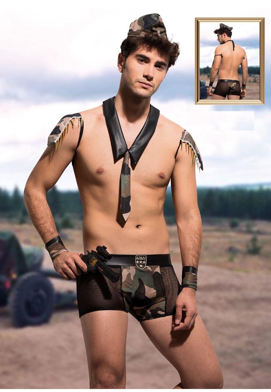 Vip Madame Erkek Asker Boxer Kostüm Set