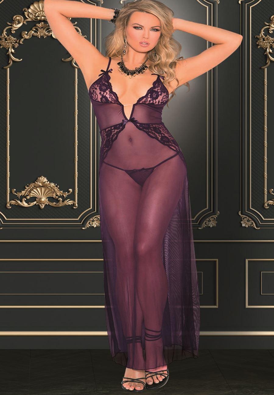 Vip Madame Kadın Tüllü Uzun Fantezi Gecelik