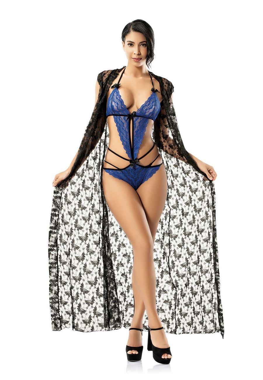 Vip Madame Kadın Dantelli Fantezi Mayokini Sabahlık Takım