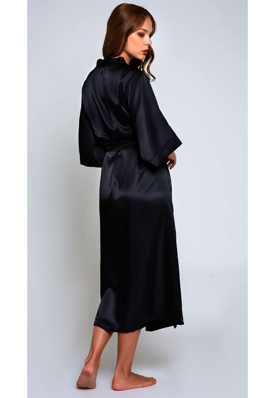 Asimod Kadın Saten Uzun Sabahlık