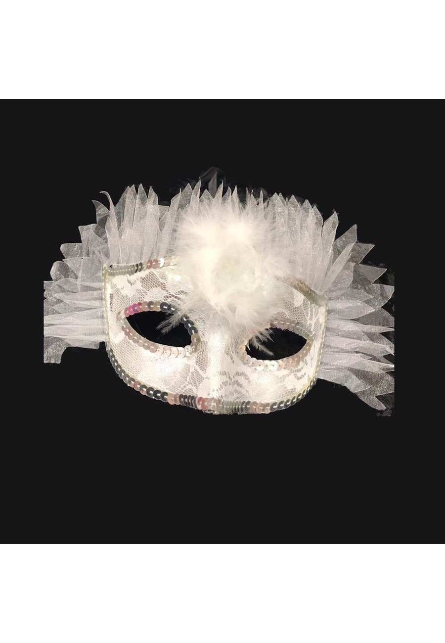 Vip Madame Kadın  Puantiyeli Parti Maskesi