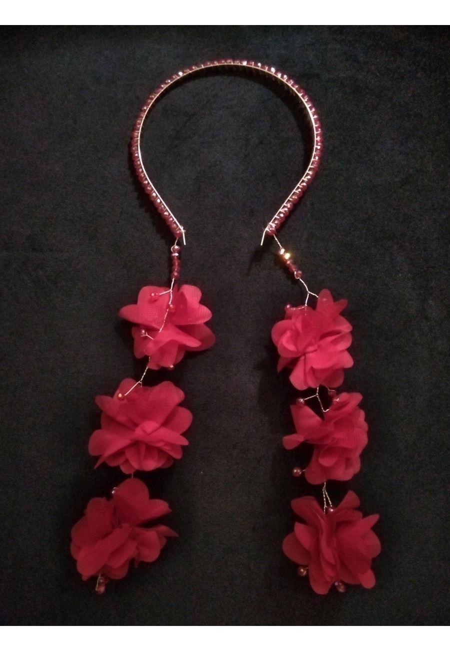 Asimod Kadın Organize Çiçek Sallantılı Bride Taç