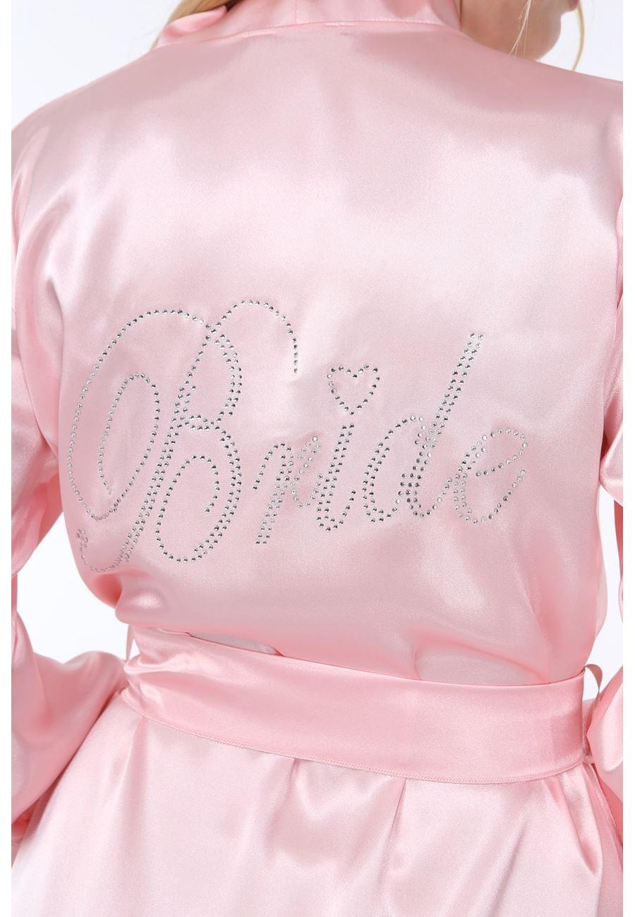 Asimod Kadın Saten Bride Sabahlık