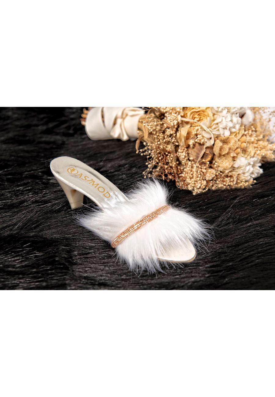 Asimod Kadın Topuklu Pisi Kordon Terlik