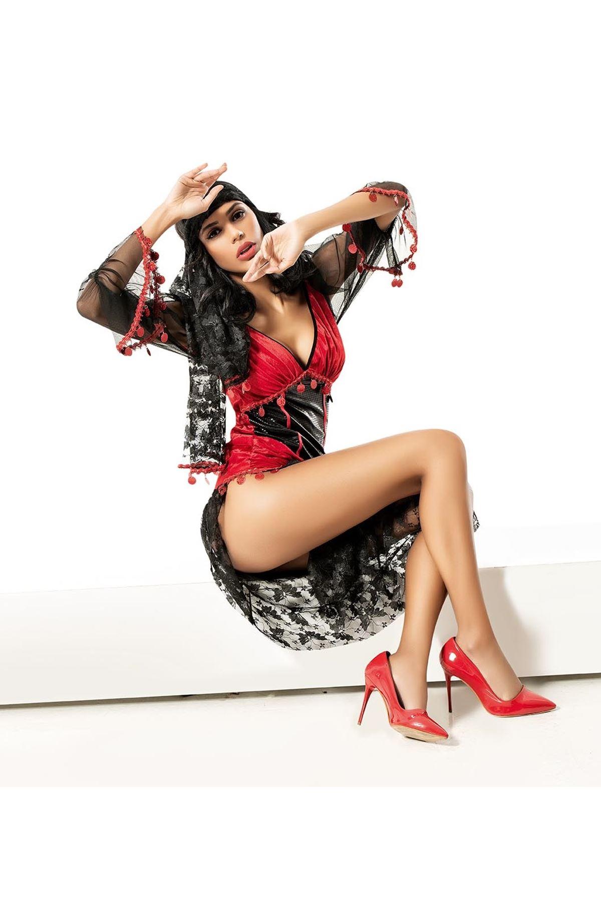 Vip Madame Kadın Fantezi Çingene Kostüm