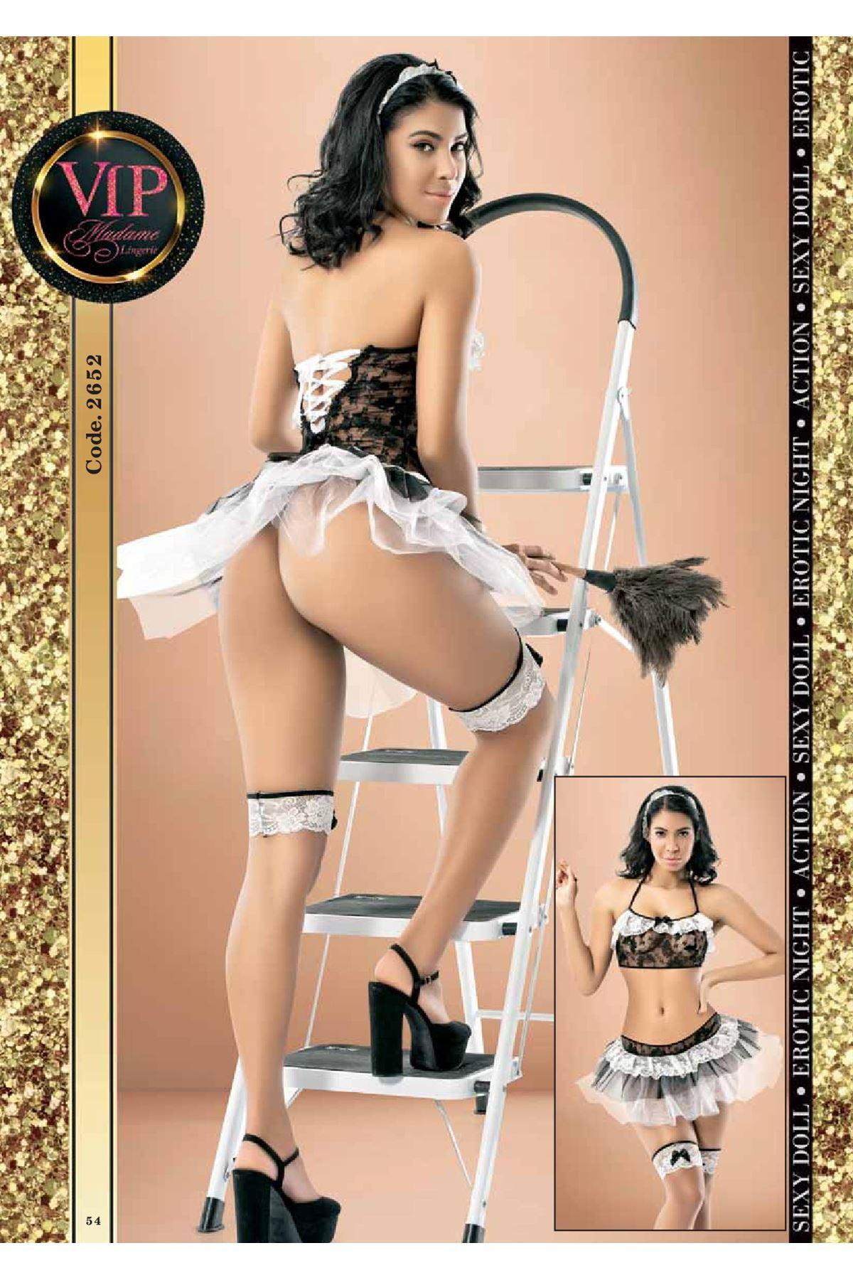 Vip Madame Kadın Hizmetçi Kostüm