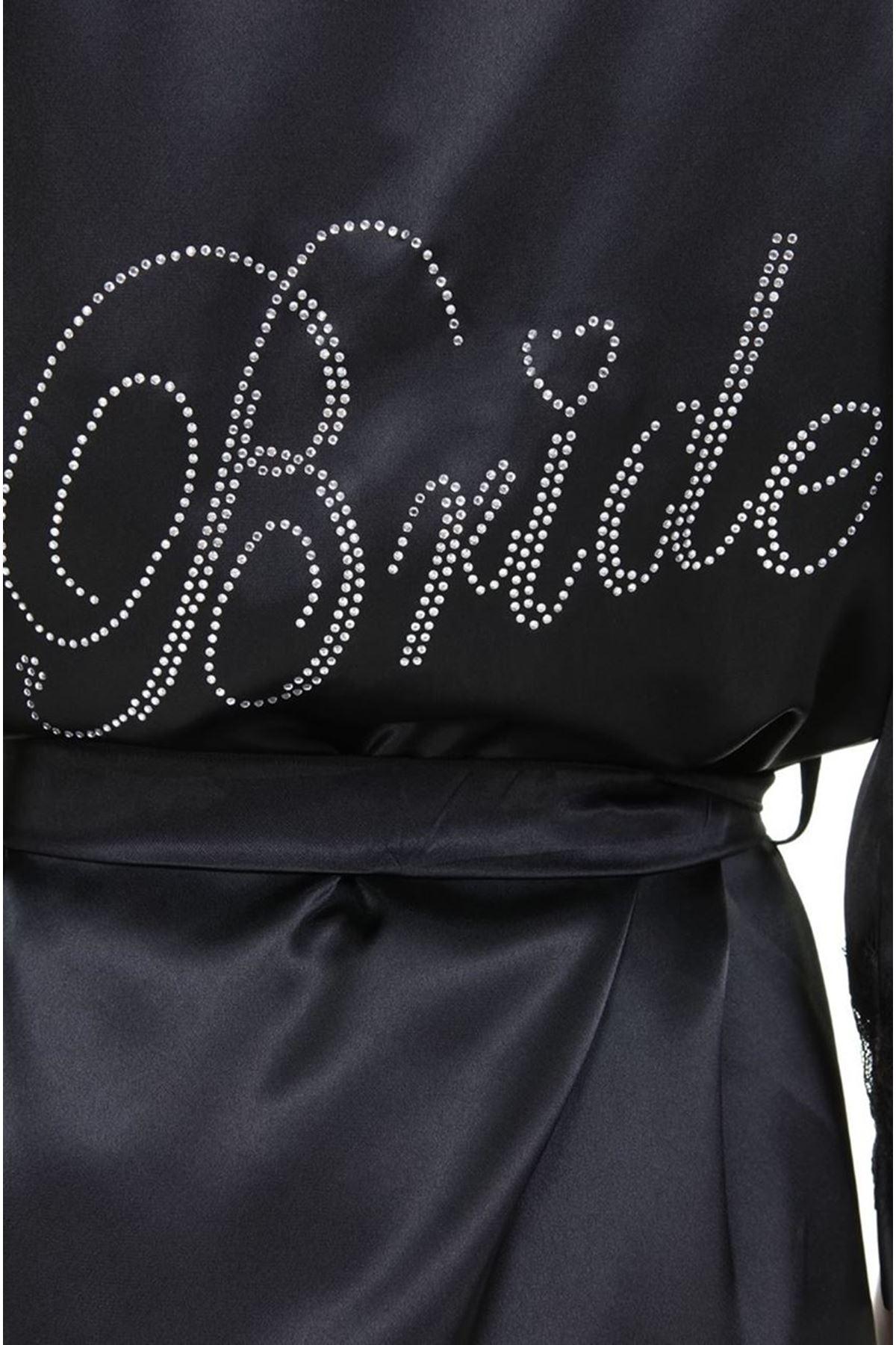 Asimod Kadın Saten Bride Battal Sabahlık